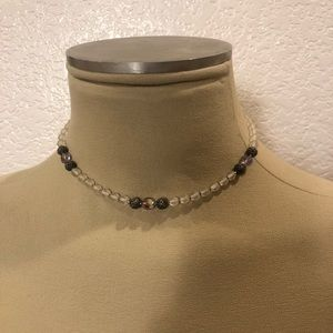 Vintage glass bead choker